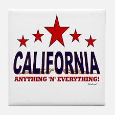 California Anything 'N' Everything Tile Coaster