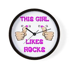 This Girl Likes Rocks Wall Clock