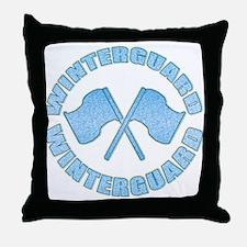 Vintage Winterguard Blue Throw Pillow