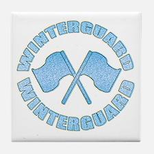 Vintage Winterguard Blue Tile Coaster