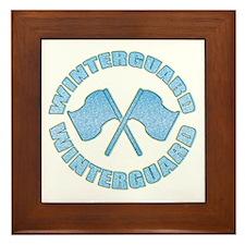 Vintage Winterguard Blue Framed Tile