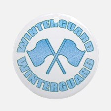 Vintage Winterguard Blue Ornament (Round)