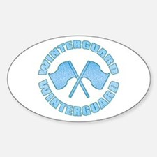 Vintage Winterguard Blue Oval Decal