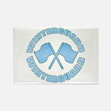 Vintage Winterguard Blue Rectangle Magnet