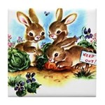 BUNNY PATCH Tile Coaster