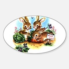 BUNNY PATCH Oval Stickers