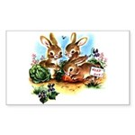 BUNNY PATCH Rectangle Sticker