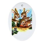 BUNNY PATCH Oval Ornament