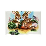 BUNNY PATCH Rectangle Magnet
