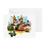 BUNNY PATCH Greeting Cards (Pk of 10)