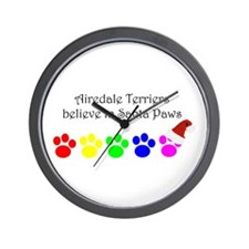 Airedale Terriers Believe Wall Clock
