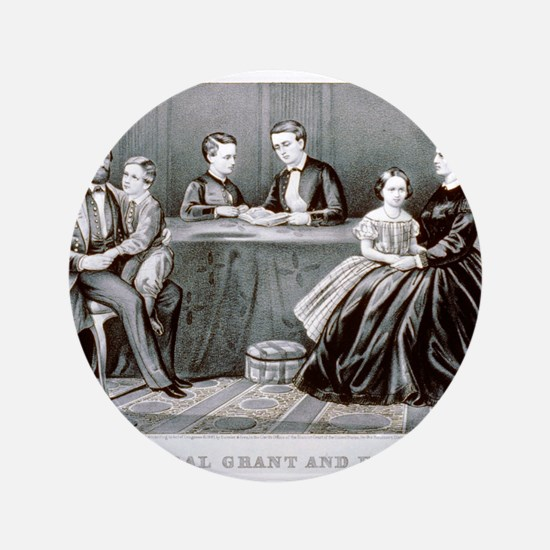 "General Grant and family - 1867 3.5"" Button (100 p"
