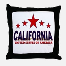 California U.S.A. Throw Pillow