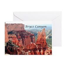Bryce Canyon, Utah, USA 5 (caption) Greeting Card