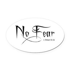 No Fear - Oval Car Magnet