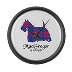 Terrier - MacGregor of Glengyle Large Wall Clock