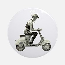 Scooter Cowboy! Ornament (Round)