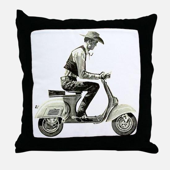 Scooter Cowboy! Throw Pillow