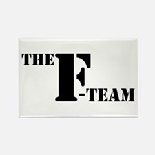 The F Team Rectangle Magnet