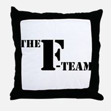 The F Team Throw Pillow