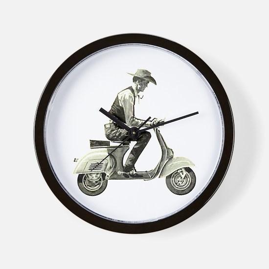 Scooter Cowboy! Wall Clock