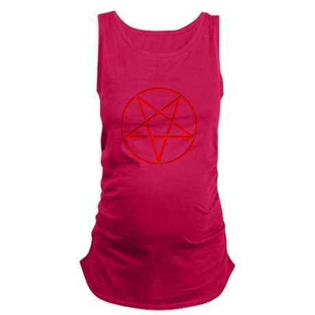 Inverted Pentagram Red Maternity Tank Top