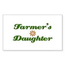 Farmer's Daughter Rectangle Decal