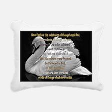 Swan Faith understood Rectangular Canvas Pillow