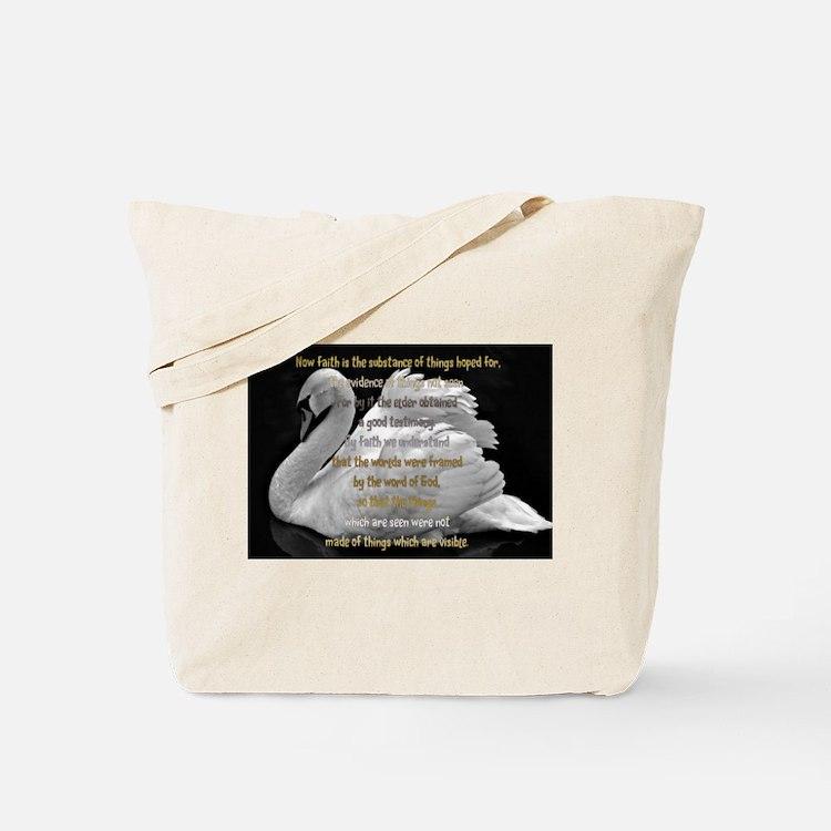 Swan Faith understood Tote Bag