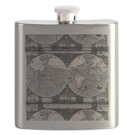 Vintage Maps Flask