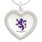 Lion - MacGregor of Glengyle Silver Heart Necklace