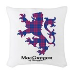 Lion - MacGregor of Glengyle Woven Throw Pillow