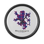 Lion - MacGregor of Glengyle Large Wall Clock