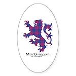 Lion - MacGregor of Glengyle Sticker (Oval 50 pk)