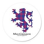 Lion - MacGregor of Glengyle Round Car Magnet