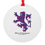 Lion - MacGregor of Glengyle Round Ornament
