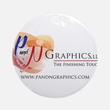 P and N Graphics Ornament (Round)