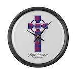 Cross - MacGregor of Glengyle Large Wall Clock