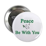 """Peace be with you 2.25"""" Button (10 pack)"""