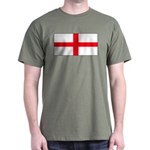 England English Flag Military Green T-Shirt