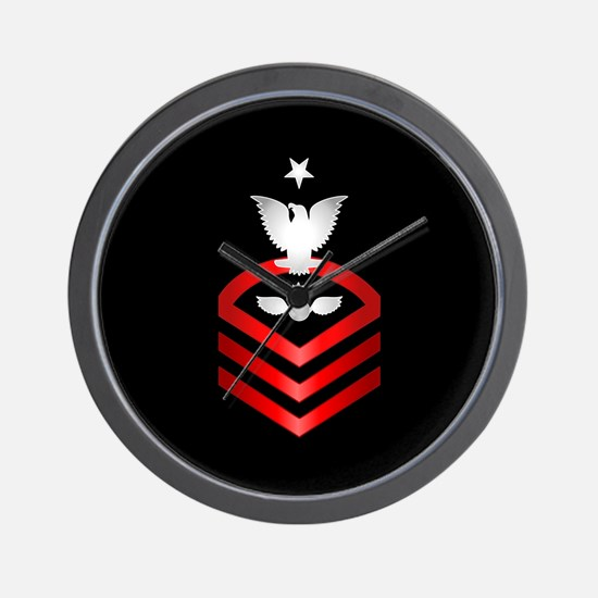 Navy Senior Chief Aviation Ordnanceman Wall Clock