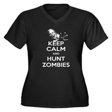 Keep Calm and Hunt Zombies Women's Plus Size V-Nec