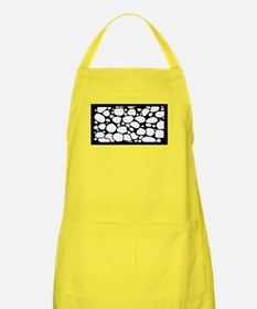 Unique Black and white rose drawings Apron
