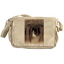 Girl in Forest Messenger Bag