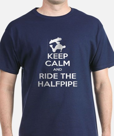 Keep Calm and Ride the Halfpipe T-Shirt