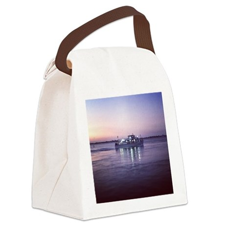 Fishing Boat on the Bay Canvas Lunch Bag