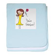 Fabulous Flo baby blanket