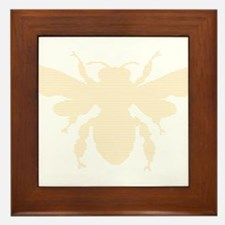 Lined image of a Bee for Honey Lovers Framed Tile
