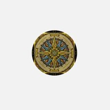 Celtic Compass Mini Button