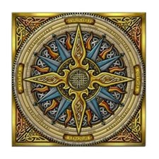 Celtic Compass Tile Coaster